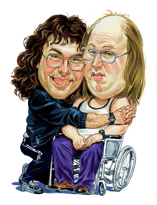 David Walliams And Matt Lucas As Lou And Andy Print by Art