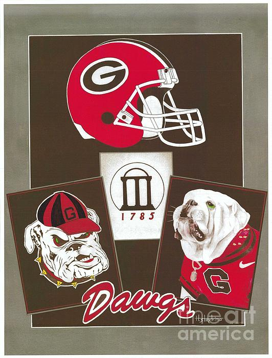 Dawgs Poster  Print by Herb Strobino