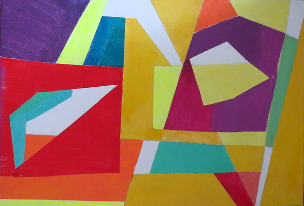 Abstract Angles Vii Print by Diane Fine