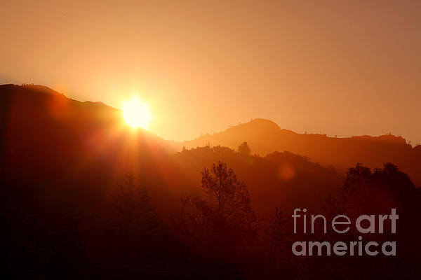 Dawn Over Calistoga Print by Posterity Productions