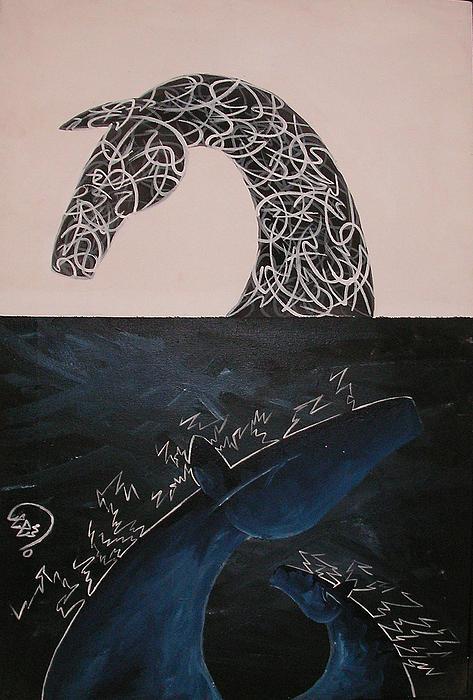 Day And Night Print by Ali ArtDesign