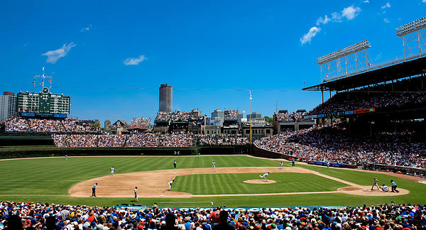 Day Game At Wrigley Field Print by Anthony Doudt