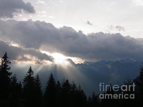 Daybreak Over Lepontine Alps Print by Agnieszka Ledwon
