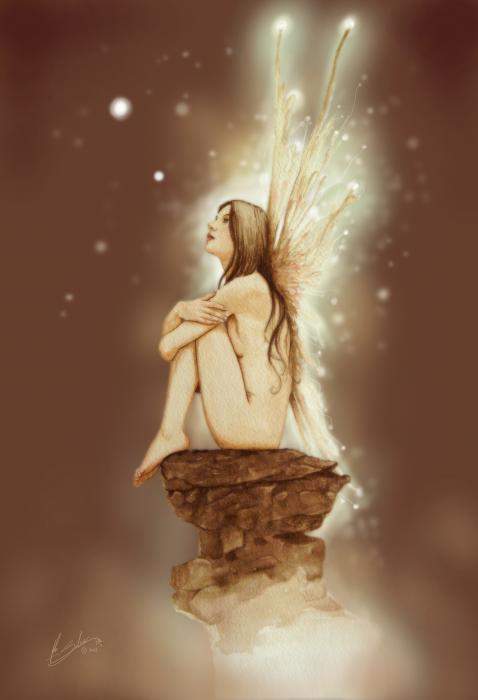 Daydreaming Faerie Print by John Silver