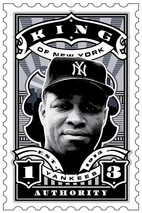 Dcla Elston Howard Kings Of New York Stamp Artwork Print by DCLA Los Angeles
