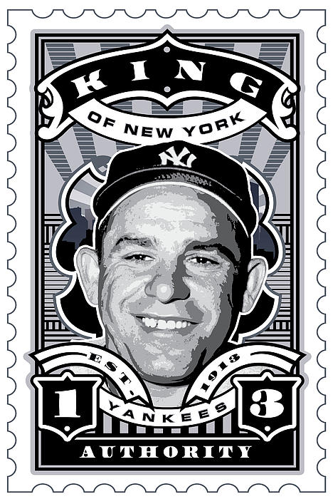 Dcla Yogi Berra Kings Of New York Stamp Artwork Print by DCLA Los Angeles