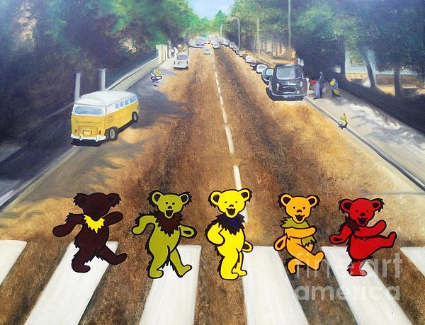 Dead On Abbey Road Print by Jen Santa