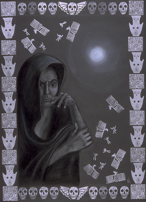 Death Crone Print by Diana Perfect