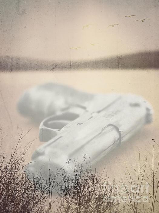 Death On Solid Water Print by Edward Fielding
