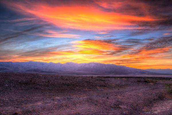 Death Valley Sunset Print by Heidi Smith