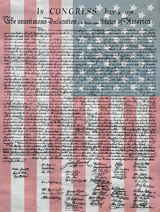 Declaration Of Independence Print by Dan Sproul