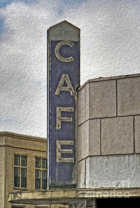 Deco Cafe - 01 Print by Gregory Dyer