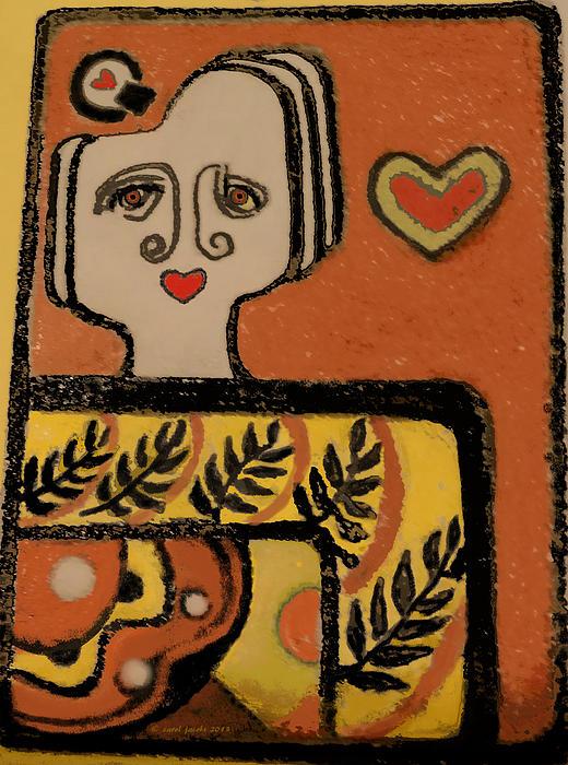 Carol Jacobs - Deco Queen of Hearts