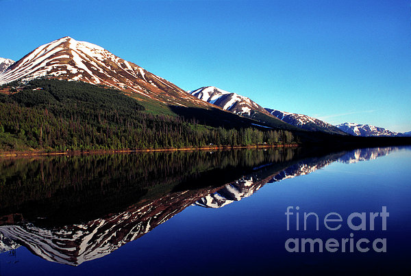 Deep Blue Lake Alaska Print by Thomas R Fletcher