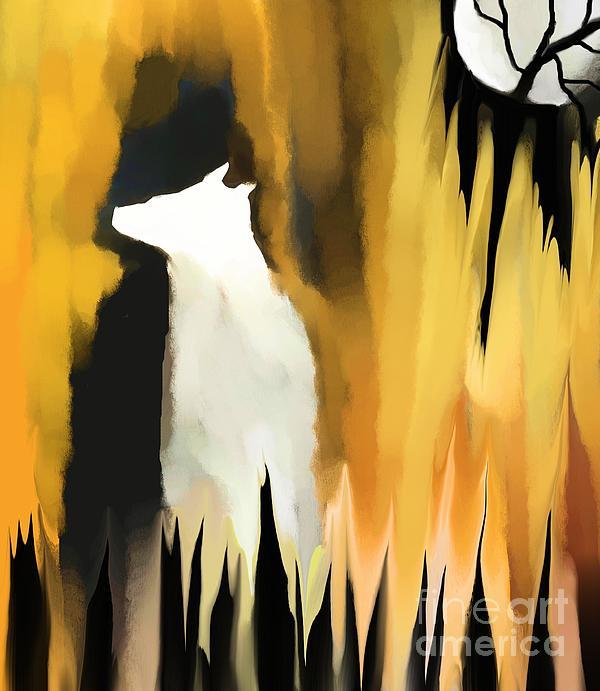 Deep In The Shadows Print by Hilda Lechuga