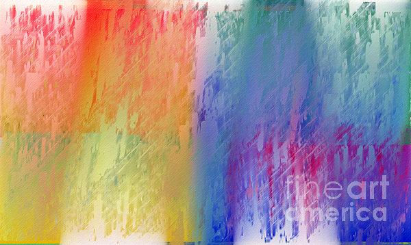 Deep Rich Sherbet Abstract Print by Andee Design