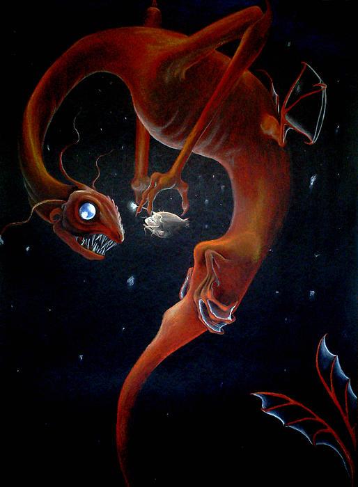 Deep Sea Dragon Print by Carin Billings