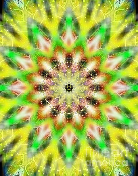 Michael African Visions - Delicate Yellow Mandala