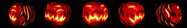 Demented Mister Ullman Pumpkin Print by Shawn Dall