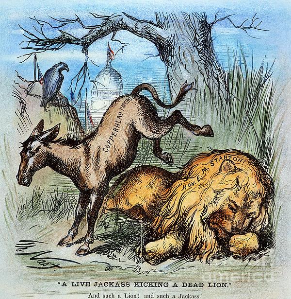Democrat Donkey 1870 Print by Granger