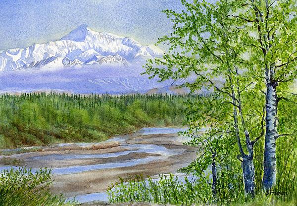 Denali Viewpoint Print by Sharon Freeman