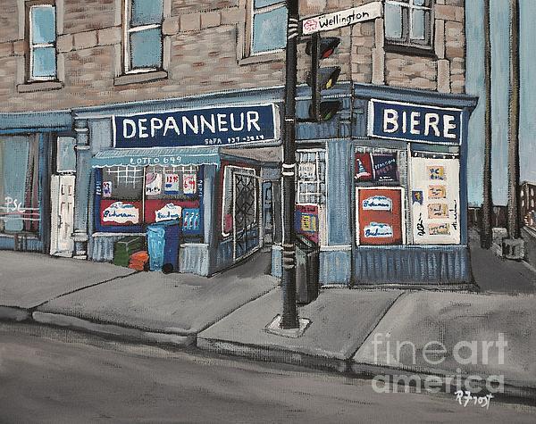 Depanneur Safa Wellington Street  Print by Reb Frost