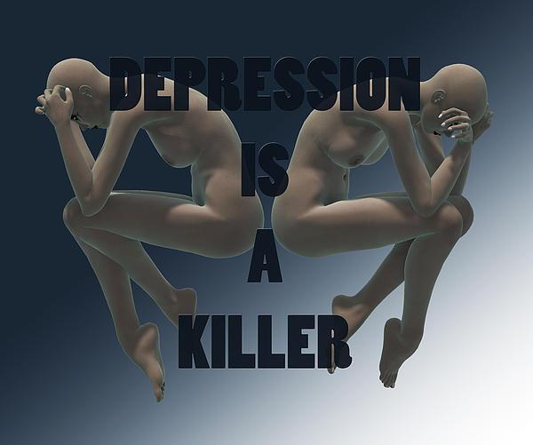 Depression Is A Killer Print by Sir Josef Putsche
