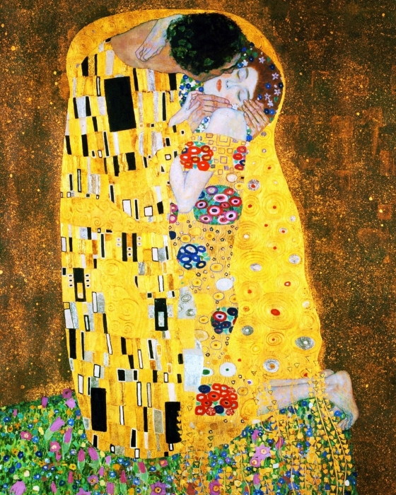 Der Kuss Or The Kiss By Gustav Klimt Print by Pg Reproductions