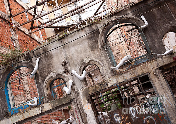 Derelict Wall Of Lost Limbs 01 Print by Rick Piper Photography
