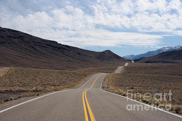 Desert 2 Lane Highway Print by Ei Katsumata