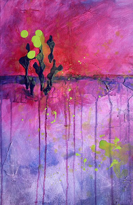Desert Landscape Abstract Print by Nancy Merkle