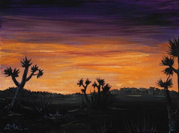 Desert Night Print by Anastasiya Malakhova