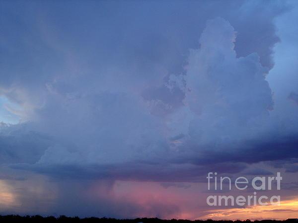 Desert Rainstorm 3 Print by Kerri Mortenson