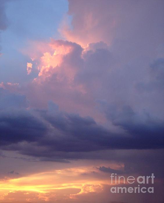 Desert Rainstorm 6 Print by Kerri Mortenson