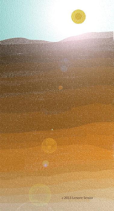 Desert Sun Print by Lenore Senior