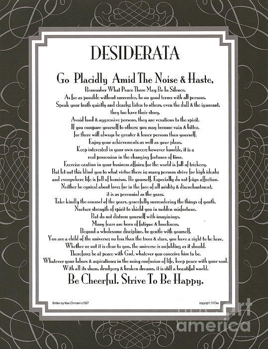 Desiderata Squared Swirls Print by Claudette Armstrong
