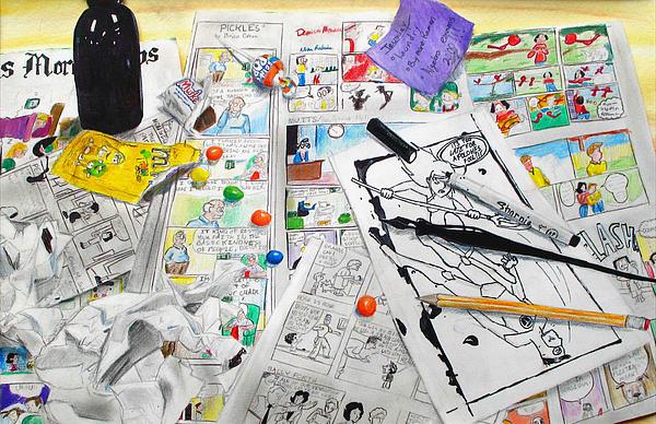 Desk Of An Artist Print by Rachel Maduro