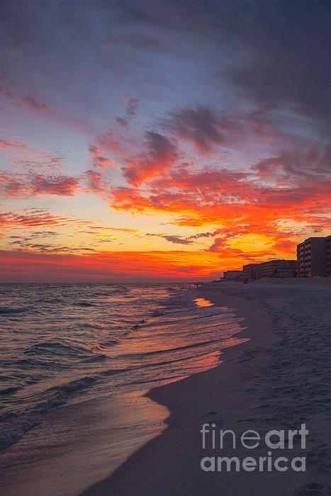 Destin Sunset Print by Kay Pickens