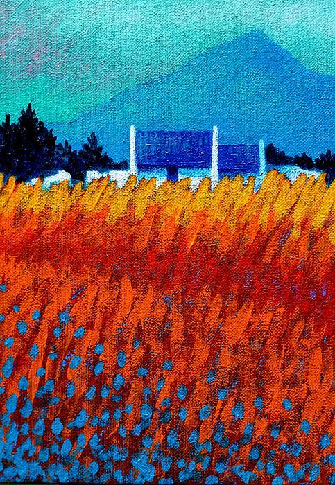 Detail From Golden Wheat Field Print by John  Nolan