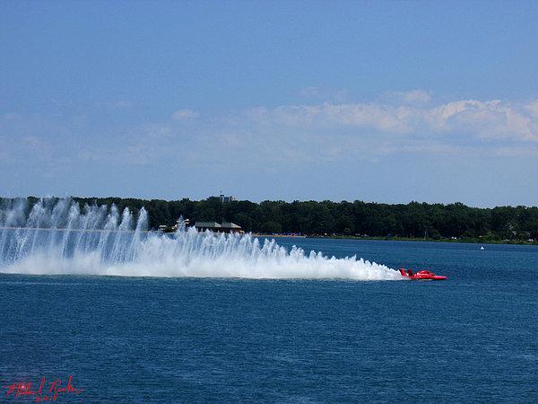 Detroit Hydroplane Races Print by Michael Rucker