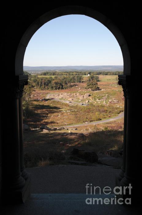 Devils Den From Little Round Top In Gettysburg Print by William Kuta