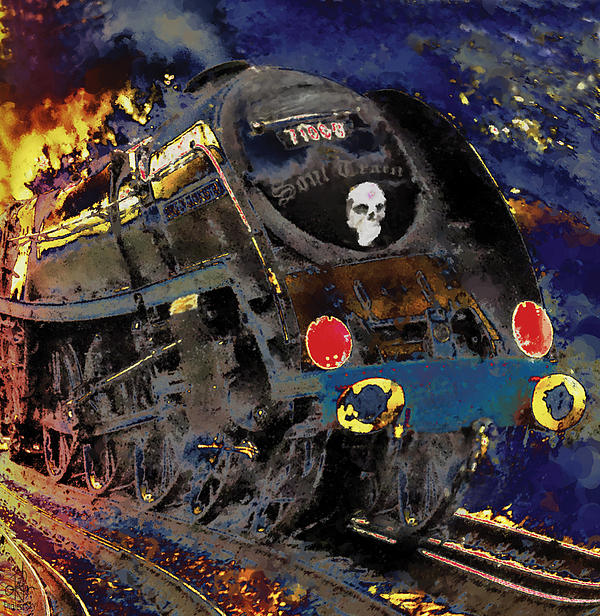 Devil's Train Print by Pennie  McCracken