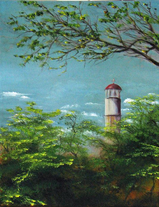 Diamond Head Lighthouse Print by Sherry Robinson