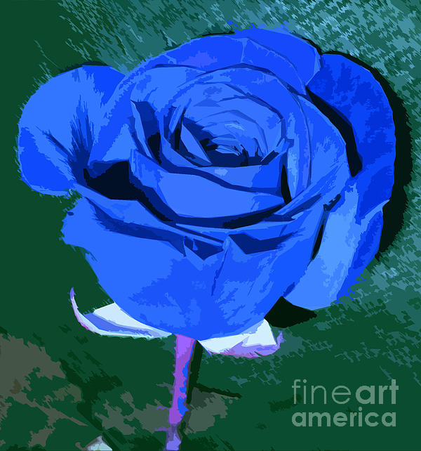 Adri Turner - Digitally Painted Blue Rose
