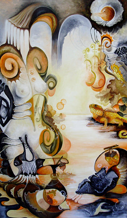 Din Colectia Nymphs - November Nimph Print by Mariana Oros