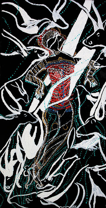 Dinka Dance Print by Gloria Ssali