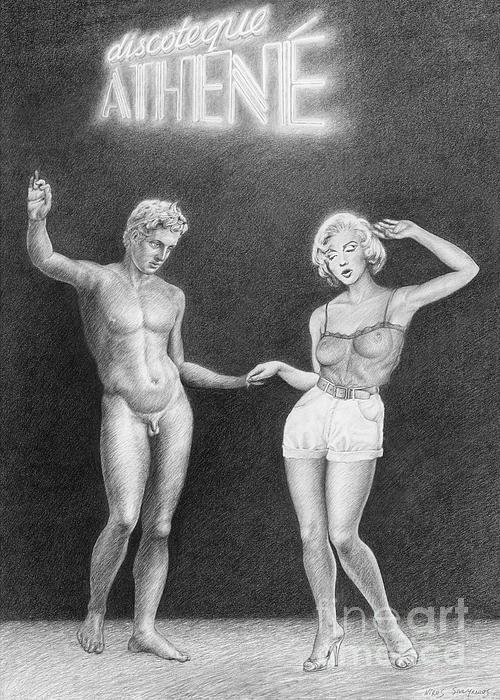 Discoteque Athene Print by Nikos Smyrnios