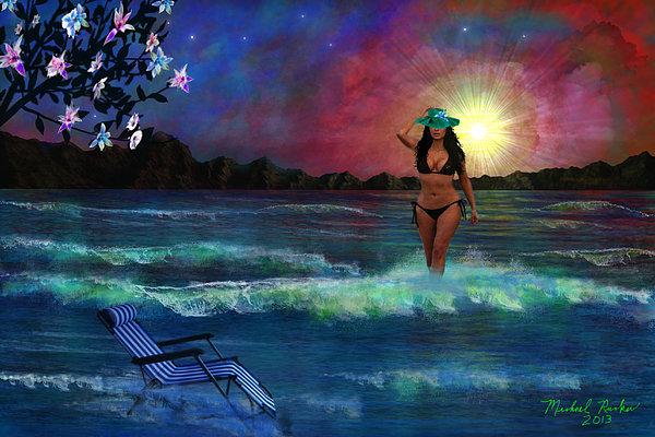 Divine Beauty Print by Michael Rucker