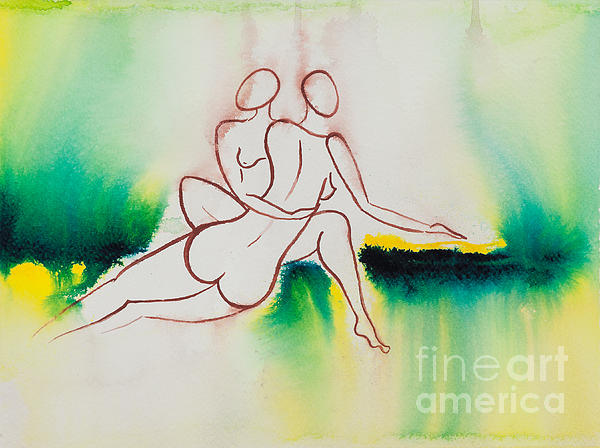 Divine Love Series No. 2090 Print by Ilisa  Millermoon