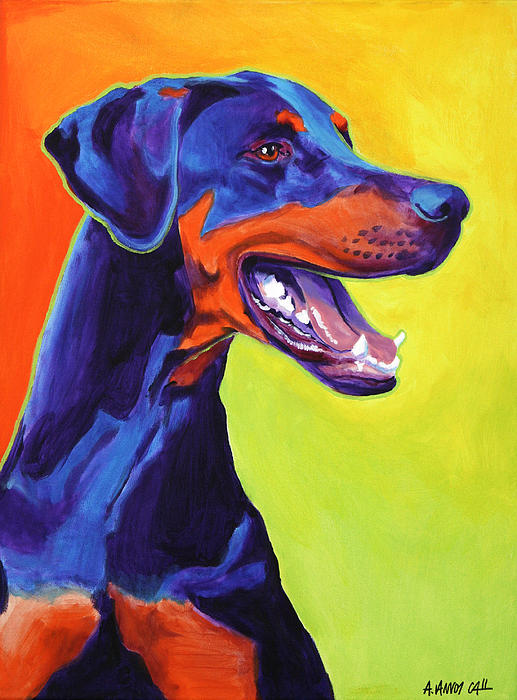 Doberman - Miracle Print by Alicia VanNoy Call
